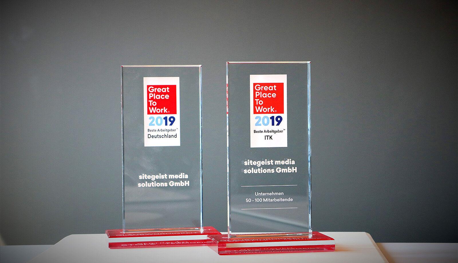 Auszeichnung: Wir sind ein Great Place to Work