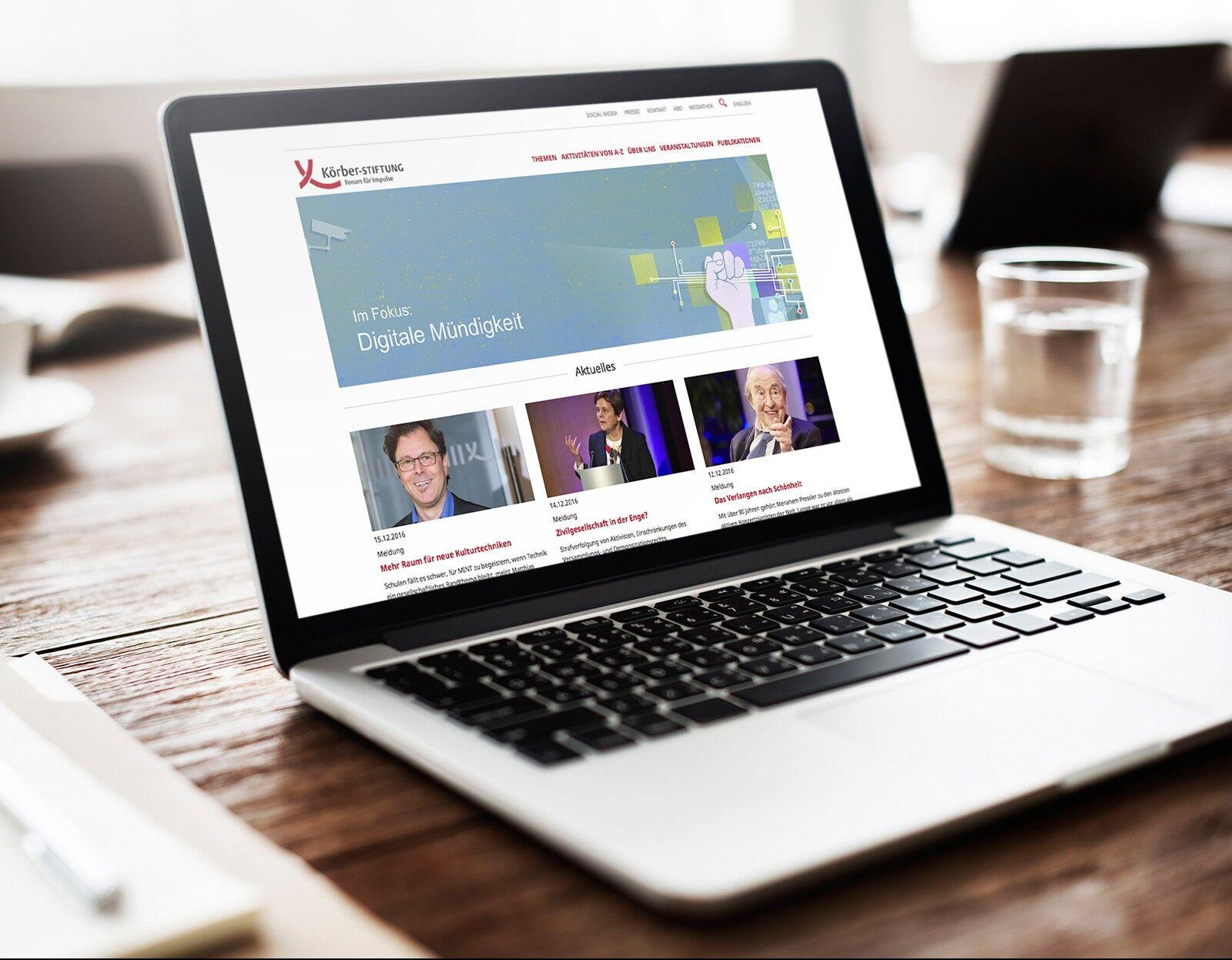 TYPO3 Relaunch Körber Stiftung