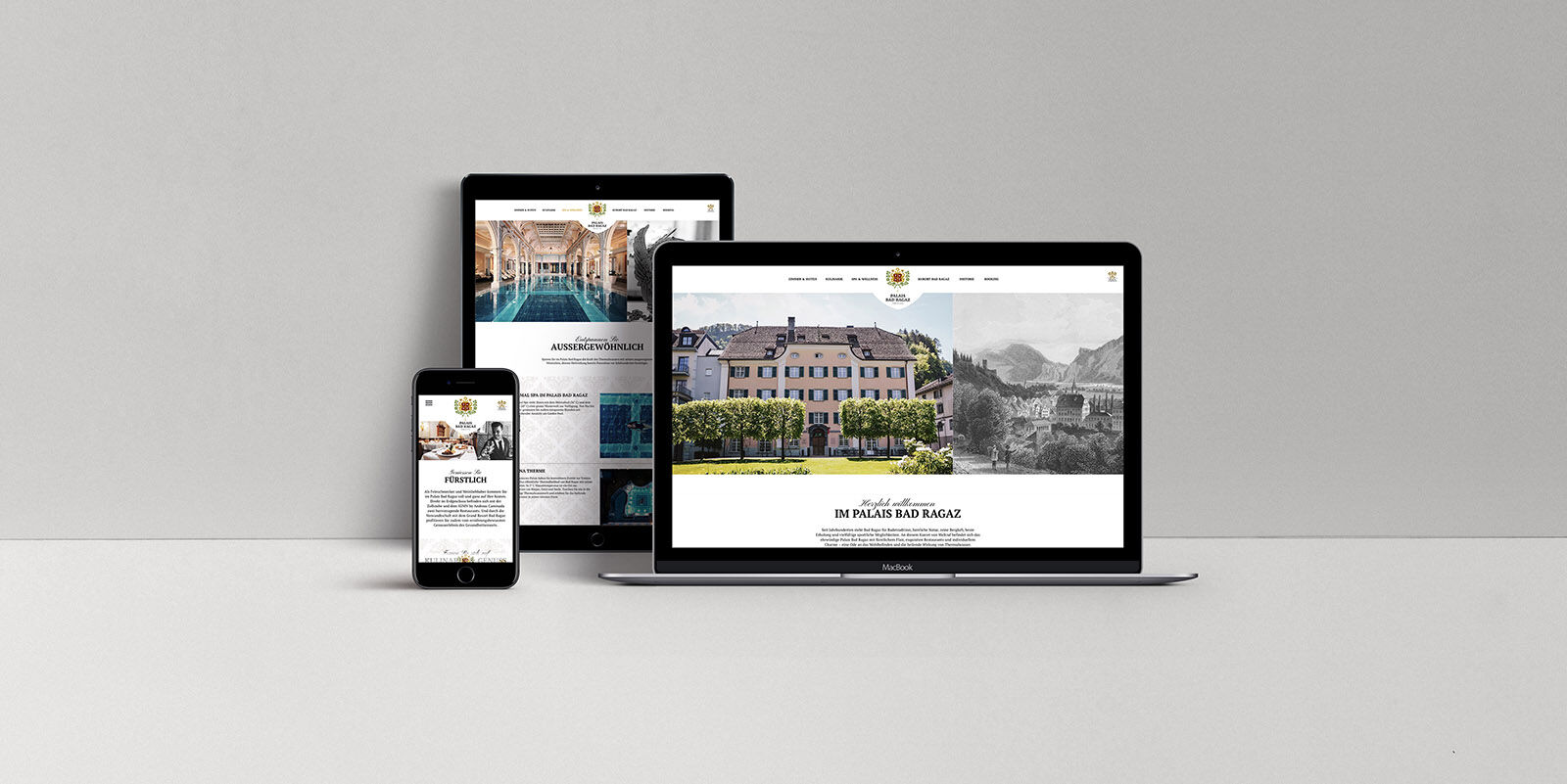 TYPO3 Relaunch Palais Bad Ragaz