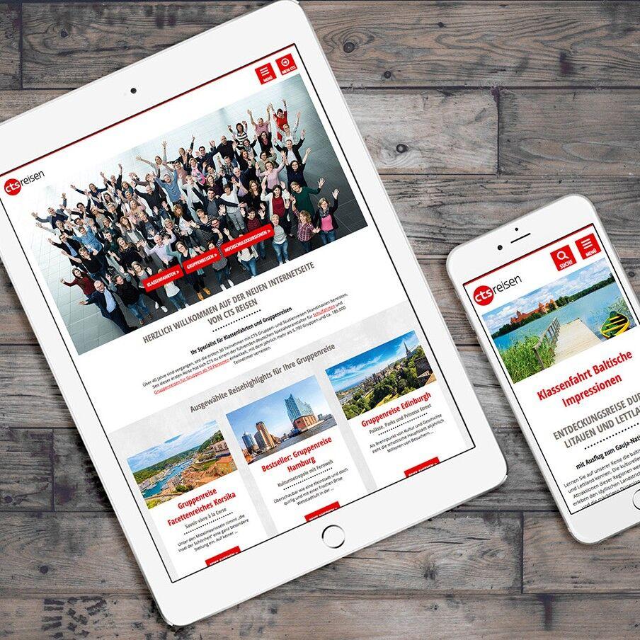 Abbildung sitegeist Referenz Responsive Viewports CTS-Reisen