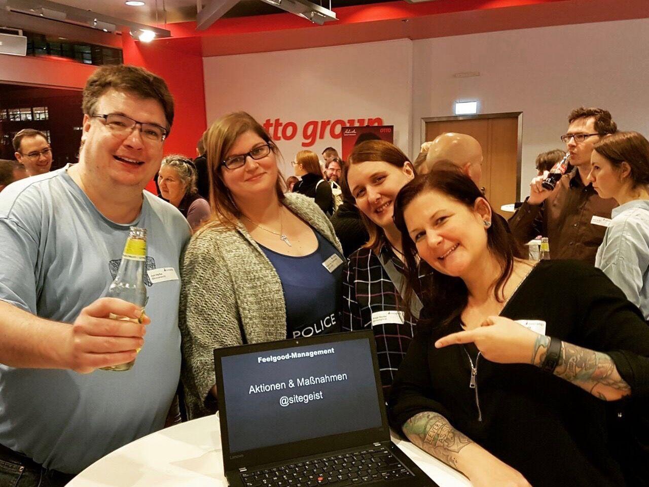 Jan, trish und Jule auf dem Barcamp Hamburg 2017