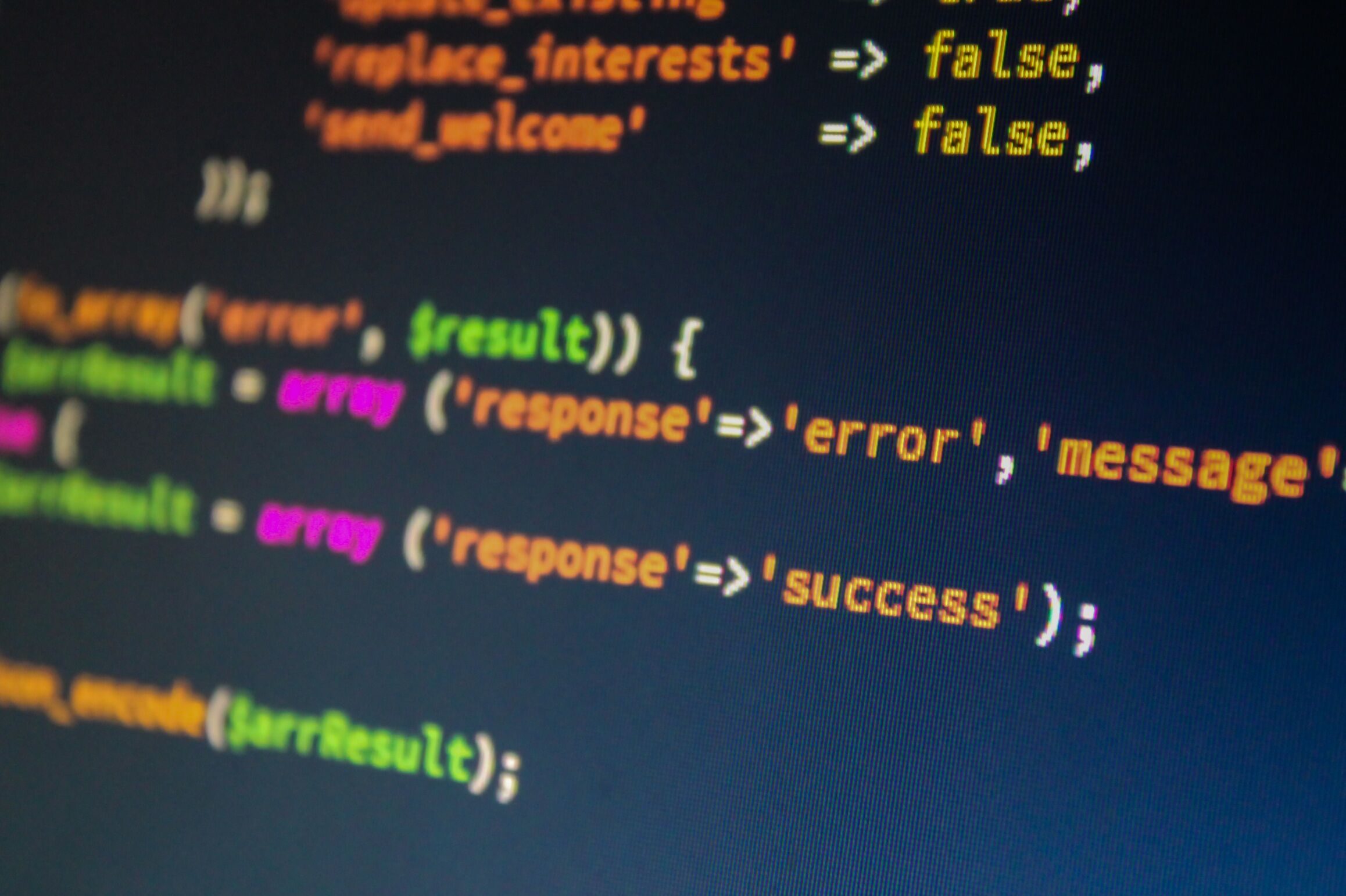 blur business close up code